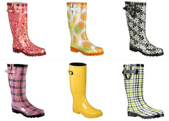 Cute and dry rain boots from Target, 2009