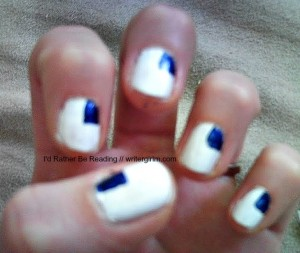 American flag nail art how-to