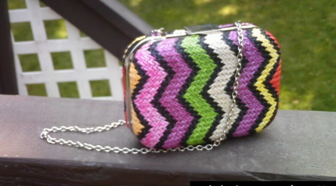 Check out this awesome clutch I found at T.J. Maxx for $2! (Yes, $2!)