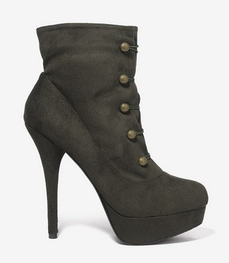 Cute Shoe Monday: military-inspired heeled booties