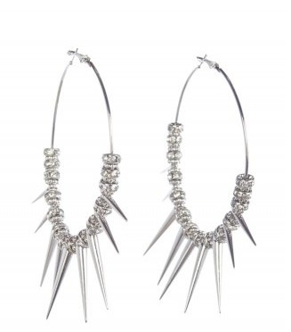 Accessory Friday: edgy, spiky earrings