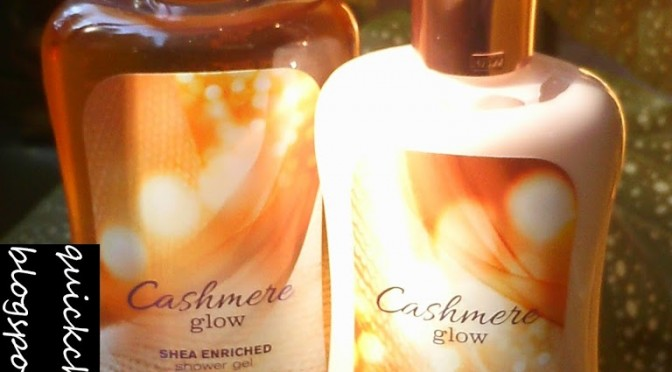 [CLOSED] Twitter giveaway contest! Bath and Body Works Cashmere Glow shower gel and body lotion