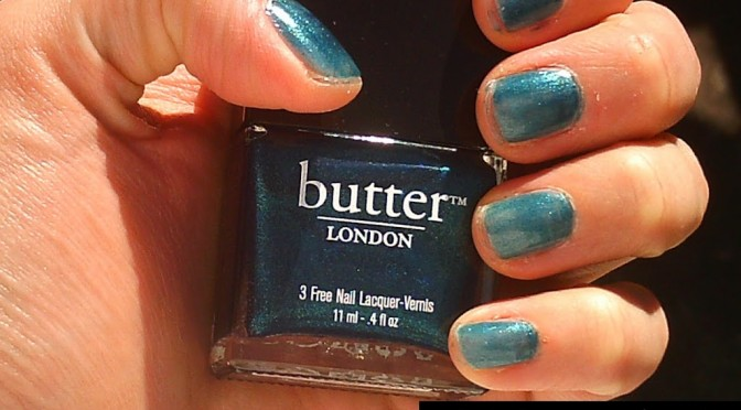 Swatches: Butter London Bluey, Wallis, and Knackered