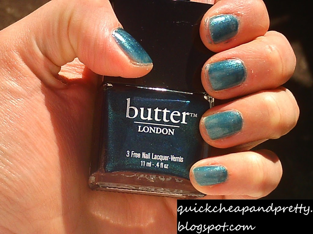 Swatches: Butter London Bluey, Wallis, and Knackered - I'd Rather Be Reading