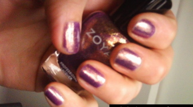 Nail Polish of the month: a holographic gold-purple
