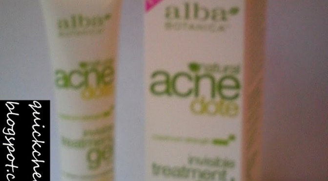 Product review: Alba Botanica Natural Acne Dote Invisible Treatment Gel