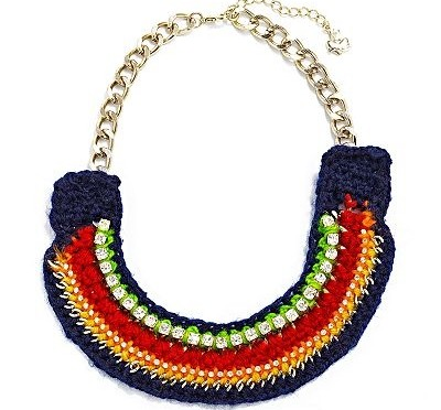 Accessory Friday: colorful bib necklace
