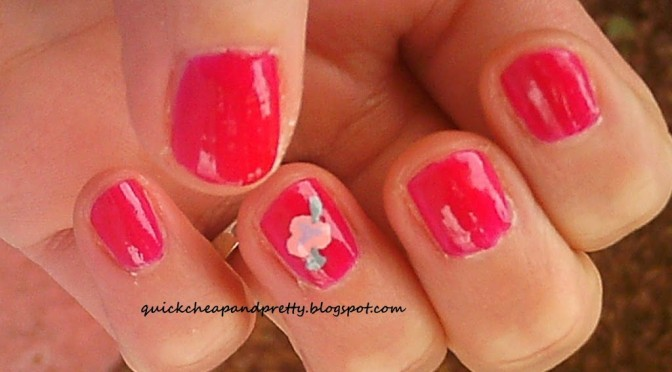 The Totally Doable I Have A Life April Nail Art Challenge: days 1 and 4