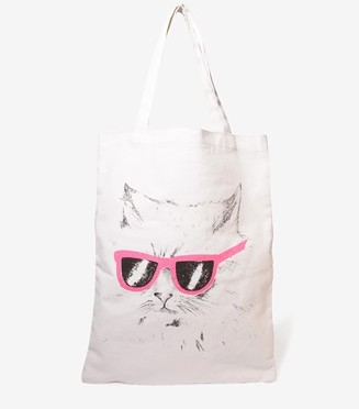 Accessory Friday: I need this tote because it shows a cat wearing sunglasses