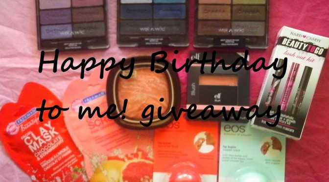 [CLOSED] Happy birthday to me! GIVEAWAY
