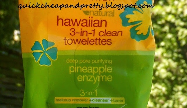 Product review: Alba Botanica Natural Hawaiian 3-in-1 Clean Towelettes Deep Pore Purifying Pineapple Enzyme