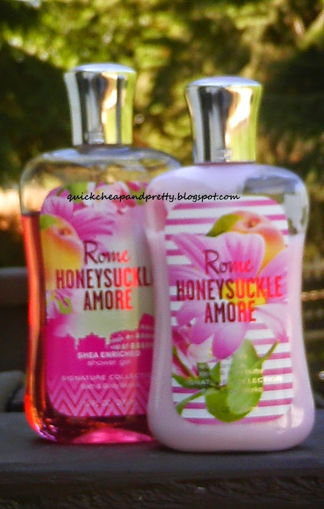 Product Review Bath And Body Works Rome Honeysuckle Amore Shower Gel Lotion