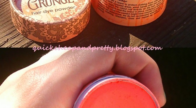Product review: Essence LE Floral Grunge Hair Dye Powder