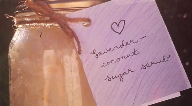 DIY: Lavender-coconut moisturizing sugar scrub