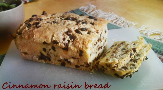 Recipe: cinnamon raisin bread