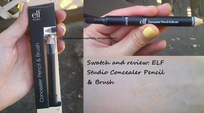 Product review: ELF Studio Concealer Pencil & Brush