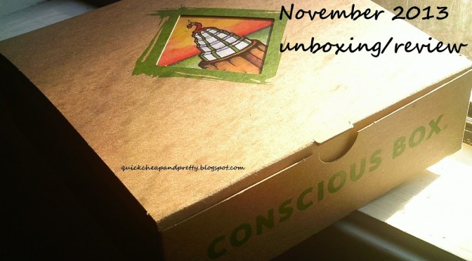 Unboxing/review: Conscious Box November 2013