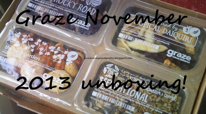 Unboxing/review: Graze Box November 2013