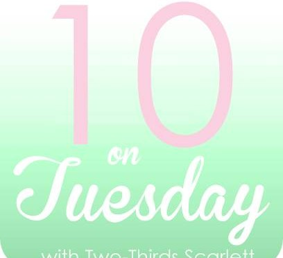 Ten on Tuesday: new job, new snacks and new books