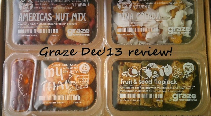 Review: Graze Box December 2013