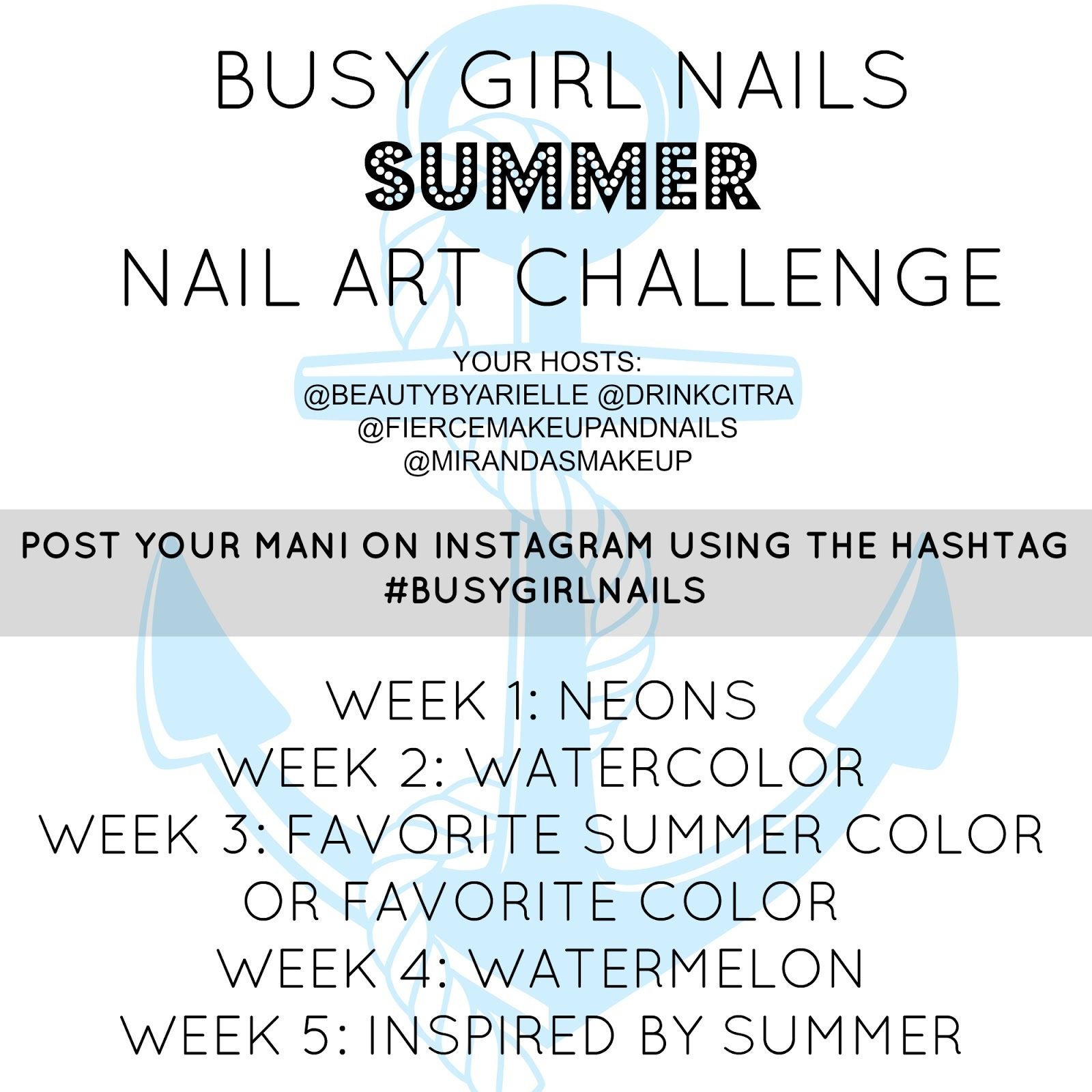 Busy Girl Nails summer 2014