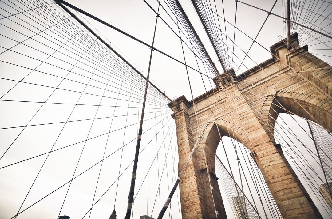 Overhead view of bridge wires