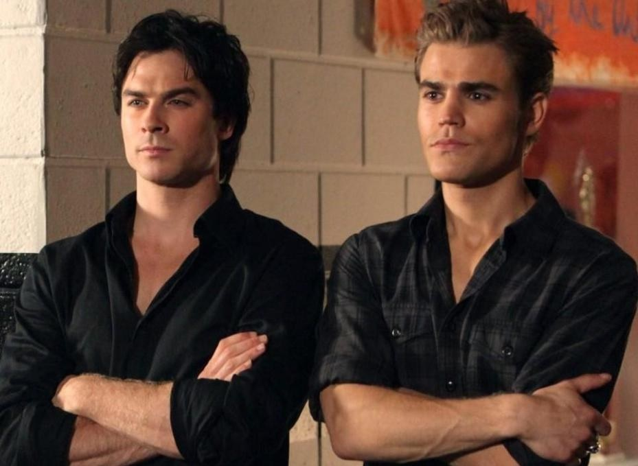 Top Ten characters who looked nothing like I pictured in their TV/movie adaptations: Ian Somerhalder and Paul Wesley as Damon and Stefan in 'The Vampire Diaries'