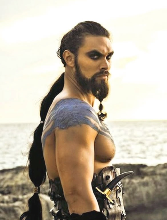 Top Ten characters who looked nothing like I pictured in their TV/movie adaptations: Jason Momoa as Khal Drogo in 'Game of Thrones'
