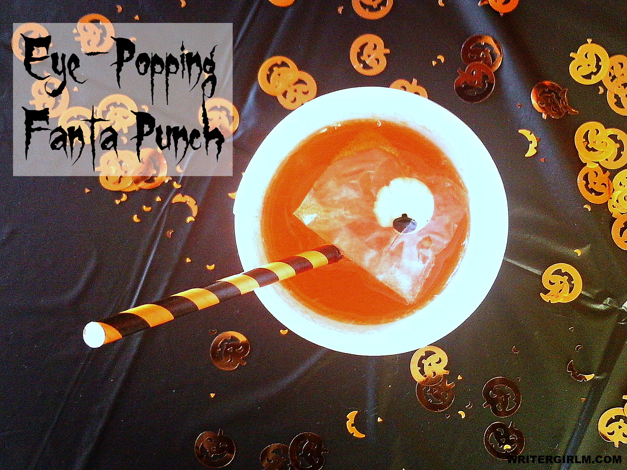 Make this easy two-ingredient Eye-Popping Fanta Punch for your next Halloween bash! #SpookySnacks #CollectiveBias