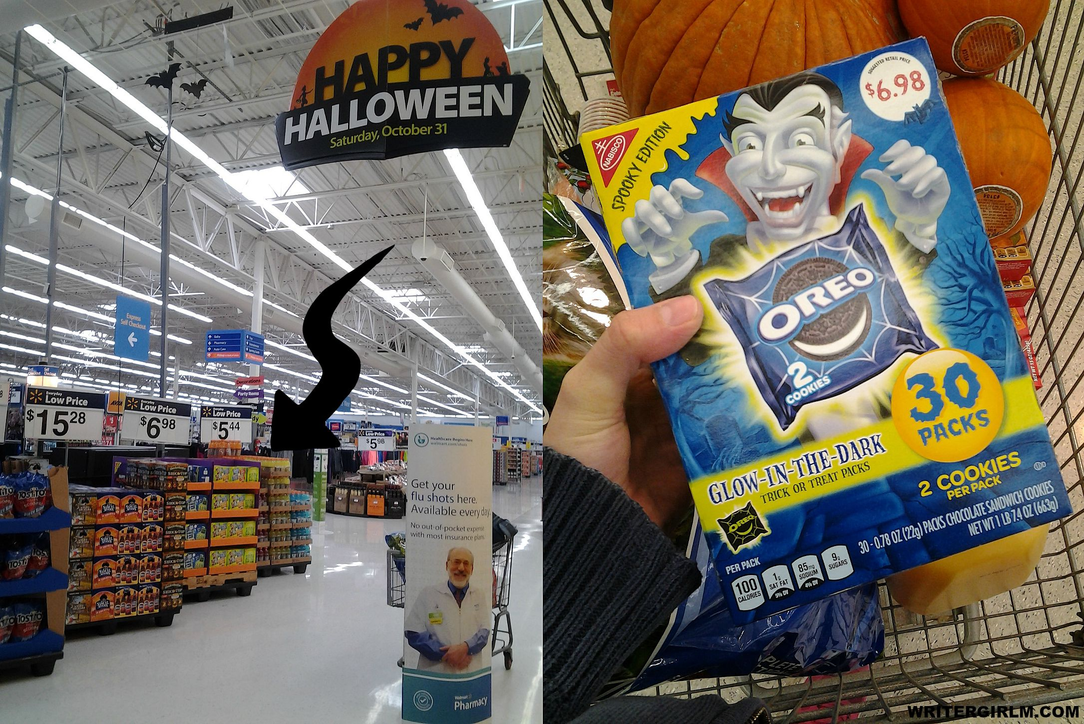 OREO cookies in glow-in-the-dark packaging are a perfect vegan-friendly trick-or-treat handout! #SpookySnacks #CollectiveBias