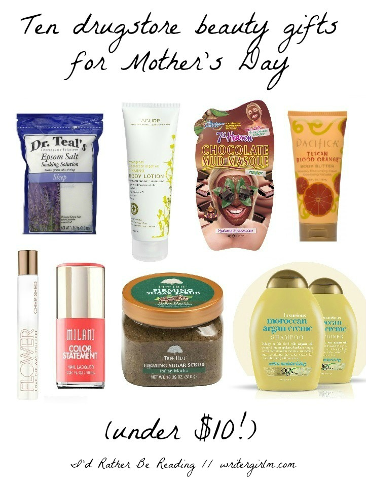 Check out these ten drugstore beauty gifts for Mother's Day (under $10!) and fill up a pampering basket for mom!