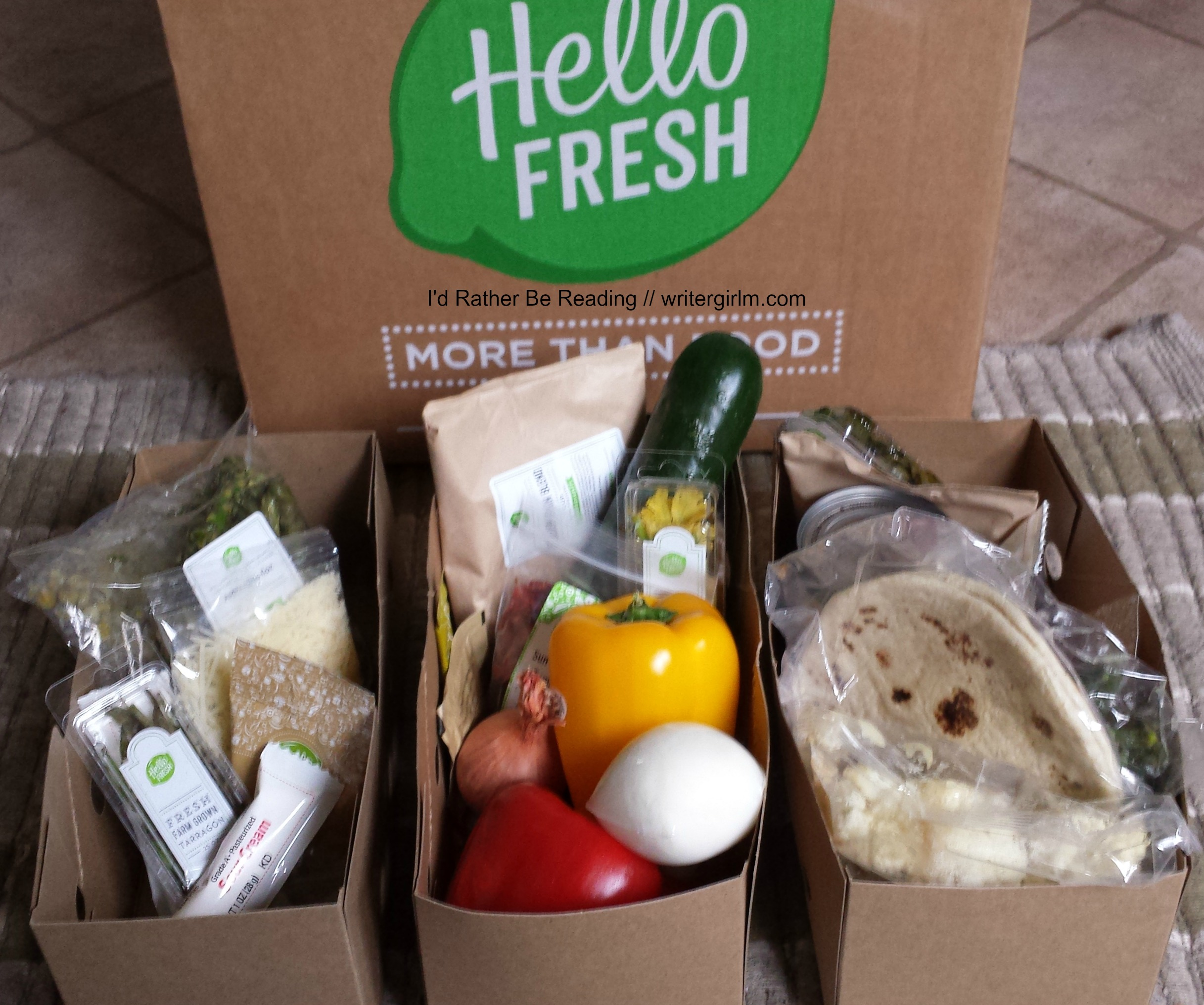 Hello Fresh takes all the work out of meal prep with prepacked boxes and easy-to-follow recipe cards.