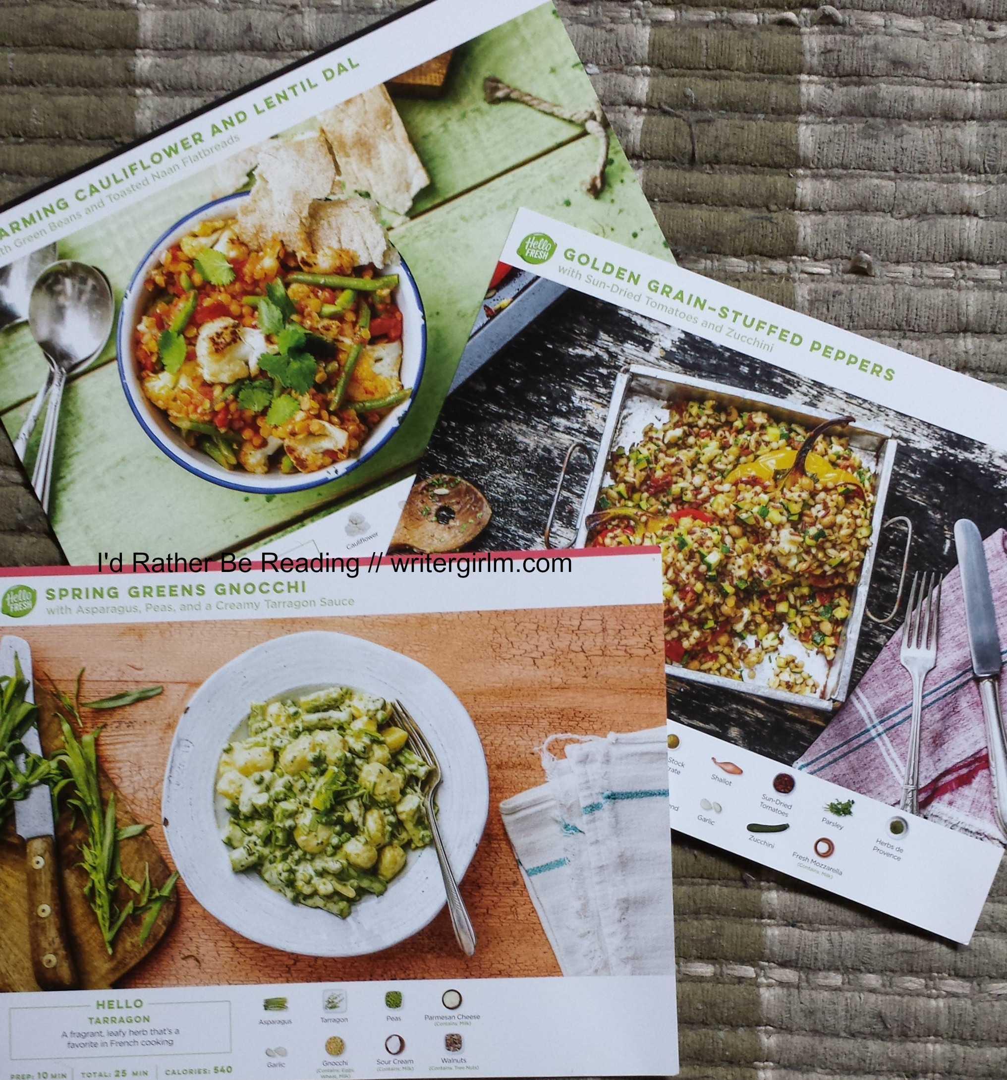 I love the additional photos and easy-to-follow recipe cards in my Hello Fresh order!