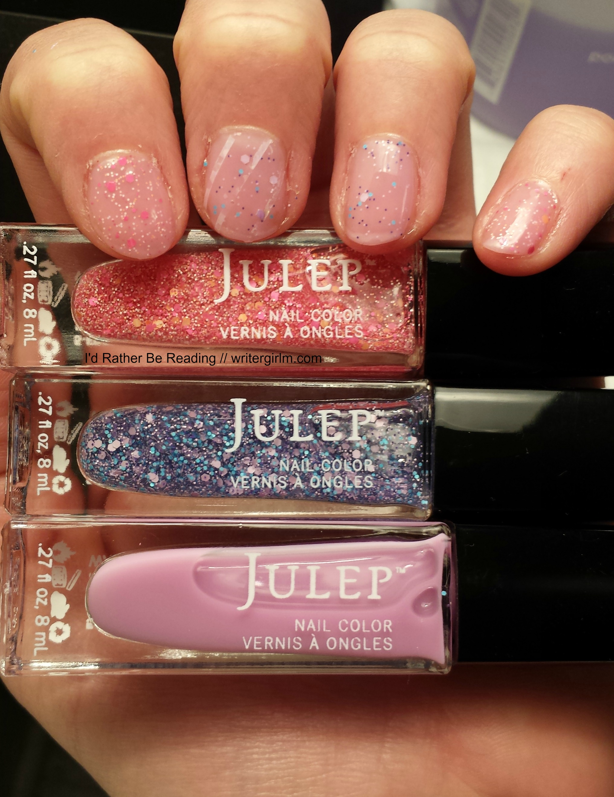 Nail art from my April 2017 Julep box!