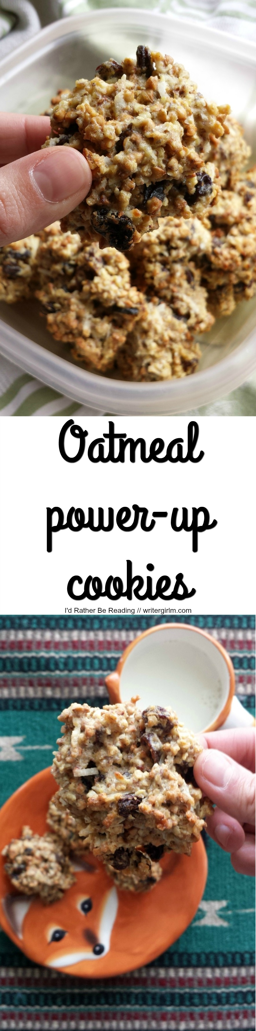 These aren't your childhood oatmeal cookies! Packed with added nutrients and with half the sugar of traditional recipes, these cookies are healthy enough to sub in for a breakfast on the go.
