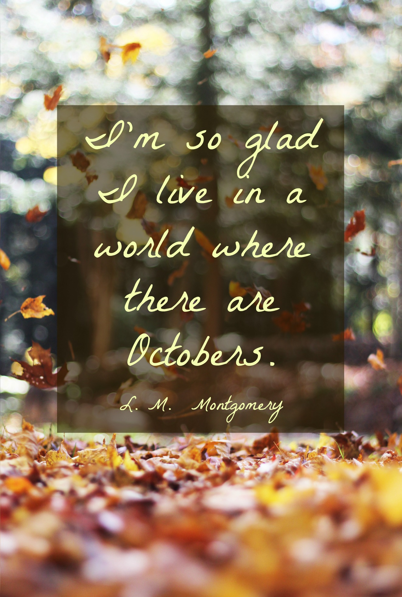 Hello October, my favorite month