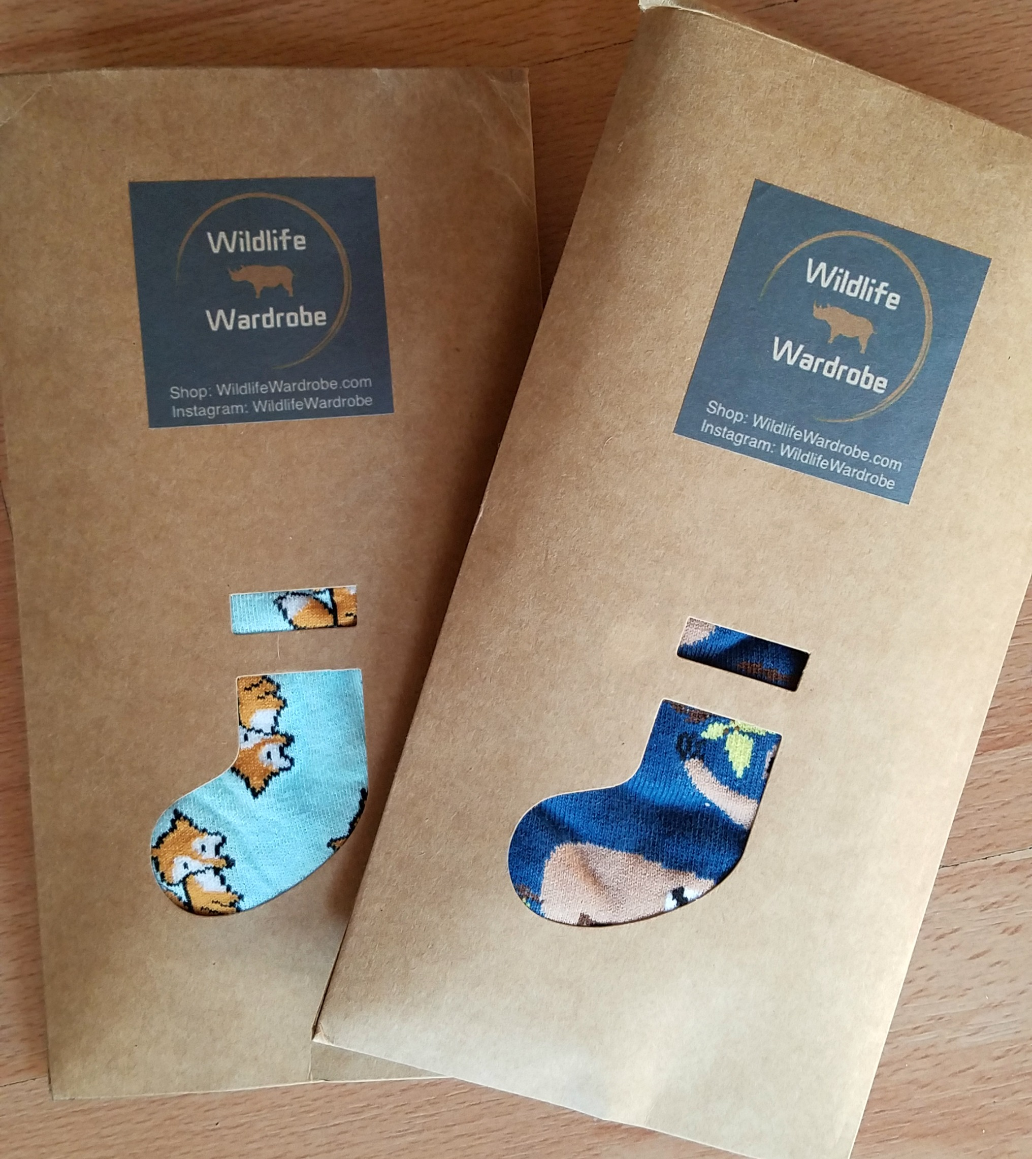 All Wildlife Wardrobe socks come in biodegradable and recyclable packaging!