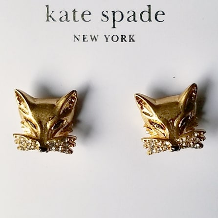 Kate Spade So Foxy - Fox Studs