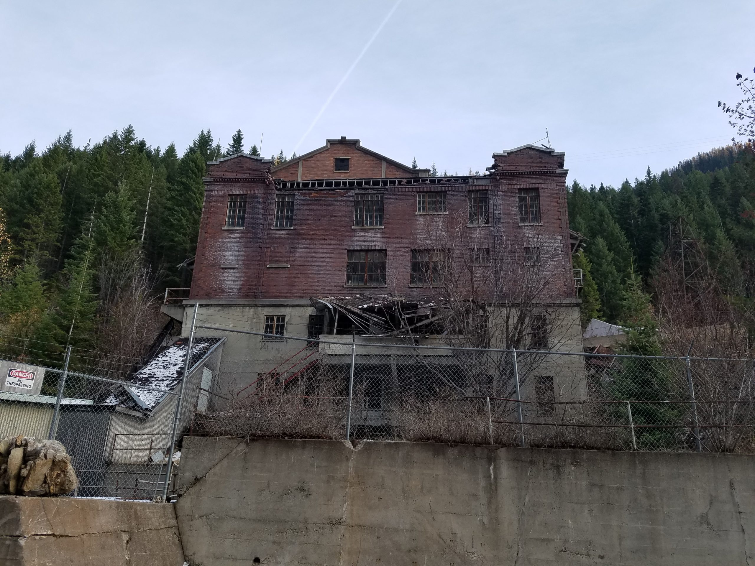 Hecla mine offices, Burke, Idaho